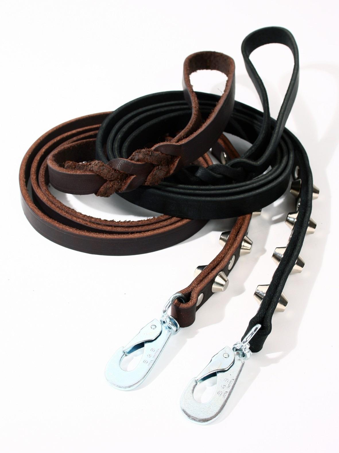 Noble Studs - Läderkoppel med runda nitar