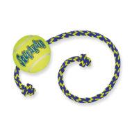 Kong Air Squeaker Med Rep - Tennisboll på snöre