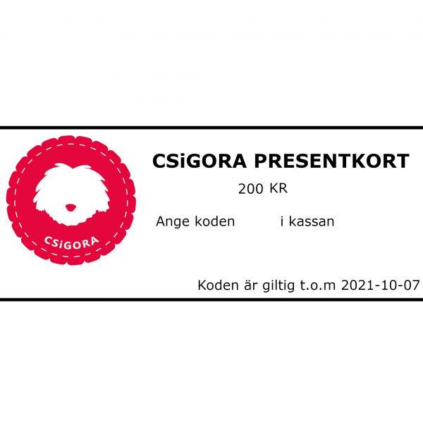CSiGORA Presentkort 200 kr