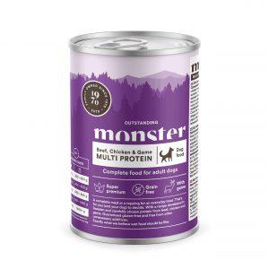 Monster Pet Food Multi Protein - Biff, kyckling och vilt