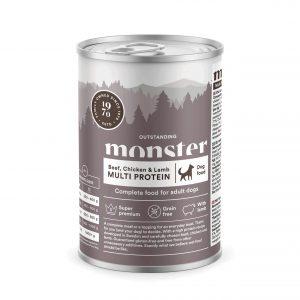 Monster Pet Food Multi Protein - Biff, kyckling och lamm